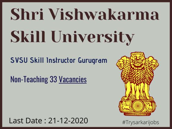 SVSU Skill Instructor Gurugram