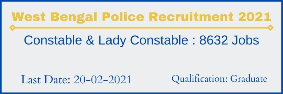 Bengal Police Bharti 2021