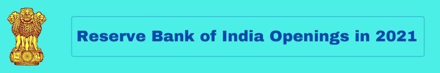 Reserve Bank Jobs 2021