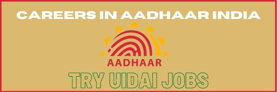 UIDAI Jobs Vacancy 2021