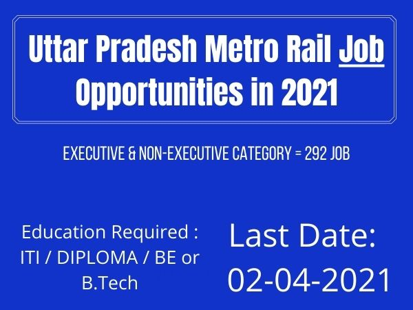 Try UP Metro Rail Jobs 2021