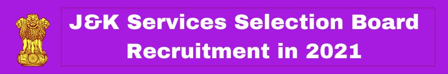 Free Jobs Alert JKSSB Vacancy 2021