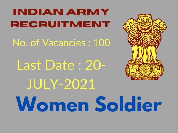 Women Military Police Vacancy 2021