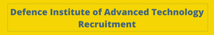 JRF Jobs in Pune Defence DIAT