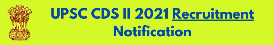 UPSC CDS 2021 Exams